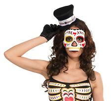 El Día de Muertos mexicano de azúcar Calavera Hembra Halloween Máscara de la cara