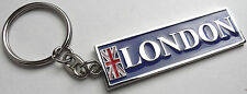 LONDON Metal KEY RING with Union Jack British Flag UK GB Souvenirs