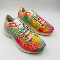 Reebok Zig Kinetica Pride Multicolor Running Shoe FY1008, Men's Size 10