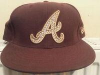 59 fifty new era major league baseball cap atlanta braves size 7 1/4  58cm