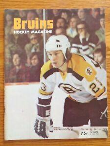 BOSTON BRUINS vs BUFFALO SABRES 3-12-1974 Program BOBBY ORR ESPOSITO O'REILLY