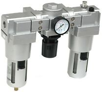 """Wartungseinheit Druckminderer 1"""" Öler einstellbar 10bar 5°C-60°C Luft 00602"""