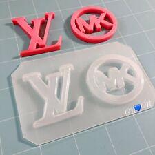 Designer Logo Flexible Plastic Resin Mold Set ~ 2 pc