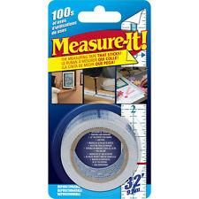 Measure-It Self-Stick, Repositionable, 32-Foot Measuring Tape / Ruler, NEW!