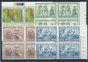 [22215] San Marino 1985 good lot in blocks of 4 stamps very fine MNH