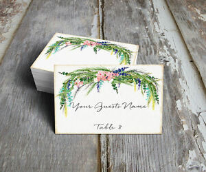 WATERCOLOR FLORAL WEDDING PLACE CARDS, TAGS or ESCORT CARDS #16