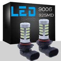 2X LED Fog Light Bulb Super Ice Blue 8000K For Car DRL Bulb 4014 92SMD 9006 HB4