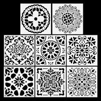 8/10/12x DIY Painting Stencil Mandala Drawing Template Planner Hollow Tool