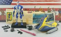 Original 2003 GI JOE WAVE CRUSHER with DEPTH CHARGE 1 ARAH Complete UNBROKEN fig