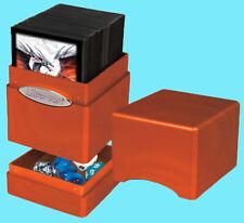 ULTRA PRO HI GLOSS METALLIC PUMPKIN SATIN TOWER DECK BOX Card Dice Storage MTG