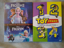 Frozen 1-2 & Toy Story 1-4 Dvd 1,2,3,4 Bundle Collection Brand New