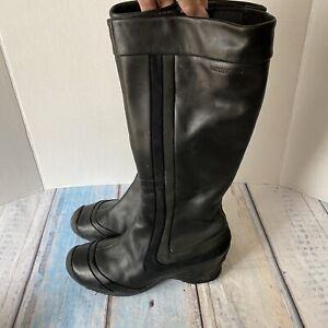 Merrell Eden Peak Black Boots Women's Size 7.5 Side Zip Leather Suede