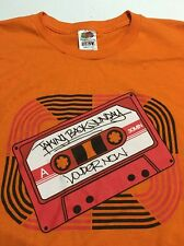 Vtg Rare!! Taking Back Sunday Cassette Louder Now 2009 emo Orange shirt Large