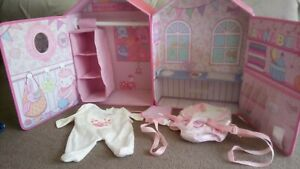 Baby Annabell Fold Out Bedroom With Carrier And Outfit