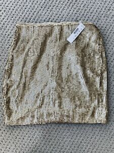 NWT j.crew Gold Sequin Mini Skirt Size 0