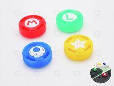 4x Nintendo Joy/con NSX Interruttore Mario/Rosso/Giallo/Verde Cap Joystick Pollice Grip