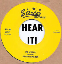 Rockabilly: GLENN BARBER-Ice Water/Livin' High & Wide STARDAY-REPRO Fantastic!
