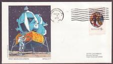 "US Space Cover 1972. ""Apollo 17"" LM Moon Landing. Astro Doc"