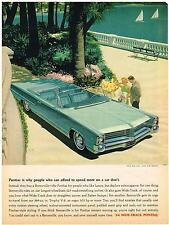 Vintage 1964 Magazine Ad Pontiac Why People Who Can Afford To Spend More Don't