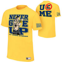 WWE JOHN CENA GOLD 10 YEARS STRONG OFFICIAL T-SHIRT ALL SIZES NEW