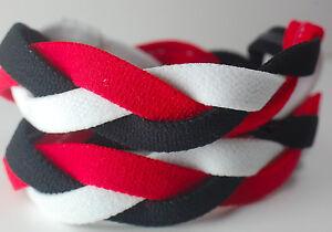 Red Black White Braided Hair Band Head Under Sweaty Headband Armour Non Slip