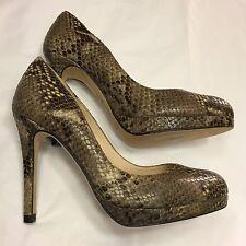 LK BENNETT Sledge snakeskin leather heels shoes RIGHT 38 UK 5 / LEFT 37.5 UK 4.5