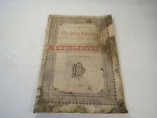 ANCIEN LIVRE D' AMEUBLEMENT MEUBLES LYON AUX DEUX PASSAGES 1900 mobilier