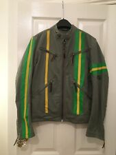 Diesel Jacket Cotton Size S Green Yellow Very  Unusual Jacket Used Excellent