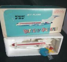 1970's TWA 727 JET PLANE Plastic Battery Operated with Box CALDERON