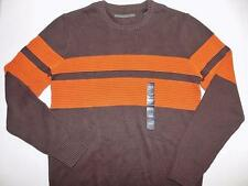 Sean John Men's Pullover Crew Neck Sweater Cotton Brown NWT Size L