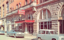 "Clarksburg WV ""The Waldo"" Hotel Old Cars Postcard"