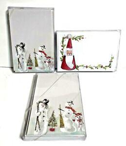 Odd Balls Lot of 3 Christmas Invitation Cards 20 Each Snowmen and Santa New