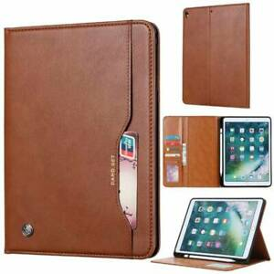 W/ Pencil Holder PU Leather Wallet Stand Case Cover For iPad 2 3 4 Air Mini Pro