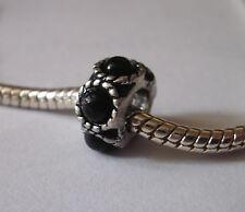 Bead Element Spacer Perlen Schwarz Farbe Antiksilber Silber für Armband 0560