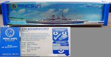 Vintage 70's Minic By Hornby 1:1200 Diecast Km Scharnhorst Battleship M745 New