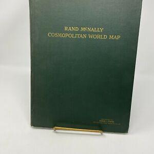 "Vintage Rand McNally Cosmopolitan World Map Book  52"" x 34 1/2"""