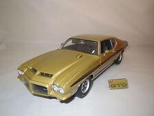 "gmp  Pontiac  GTO  H.O.  ""1972""  (gold-metallic)  1:18 ohne Verpackung !"
