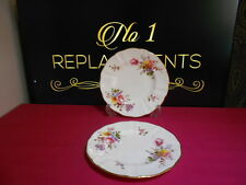 "2 X Royal Crown Derby Posies Side / Tea Plates 6.25"" XLI / XLIII"