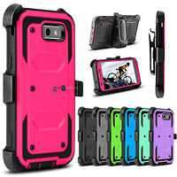 Shockproof Rugged Holster Clip Hard Case for Samsung Galaxy J3 Emerge / J3 2017
