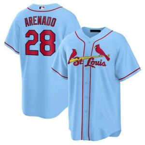 Nolan Arenado St. Louis Cardinals Player Jersey Light Blue XS-4XL