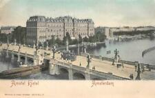 AMSTEL HOTEL AMSTERDAM NETHERLANDS TROLLEY POSTCARD (c. 1900)