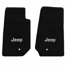 Jeep Wrangler 2 Pc All Weather Carpet Floor Mats  Silver JEEP Logo 2007-2013