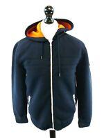 CREW CLOTHING Mens Hoodie Jacket M Medium Navy Blue Polyester