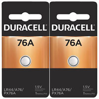 2x Duracell 76A 1.5V Alkaline Battery Replacement LR44,CR44,SR44,AG13,A76,PX76