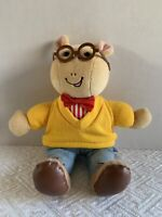 "1995 Eden Toys Marc Brown Arthur Stuffed Plush doll Glasses 10"" Tall"