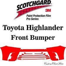 3M Scotchgard Paint Protection Film Pro Series 2017 2018 2019 Toyota Highlander