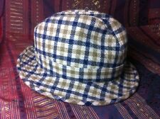 Vintage Mens Aquascutum of London 100% Wool Trilby Style Hat in Small