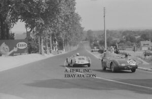 Jaguar C-type racing auto 1955 24 hours of Le Mans racing Austin Healey