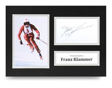 Franz Klammer Signed A4 Photo Display Olympic Skier Autograph Memorabilia + COA