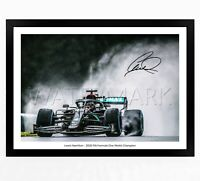 LEWIS HAMILTON SIGNED PRINT PHOTO POSTER SQUAD 2020 FRAMED F1 FORMULA ONE 1